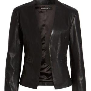 BLANKNYC Faux Leather Blazer in Mean Streets